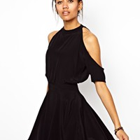 Motel Sarina Skater Dress With Cut Out at asos.com