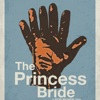 The Princess Bride Minimalist Movie Poster / Media Room or Movie Room Art