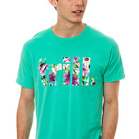 The Dope Boy Magic Tee Trill Pink Floral in Mint