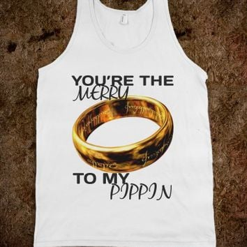 Merry and Pippin-Unisex White Tank