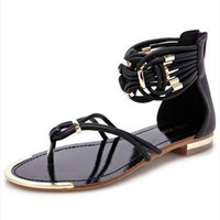 Flat Sandals with Twisted Ankle Band GSB742 from topsales