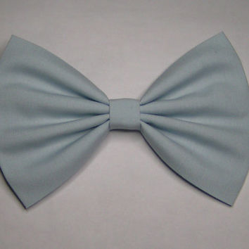 Soft Blue color Hair Bow, Fabric Hair Bow,Fabric Bow, Bows for Kids, Hair bows