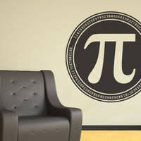 Pi Symbol Geek Wall Decal - Nerd Vinyl Decor