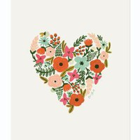 Rifle Paper Co. - Floral Heart Print