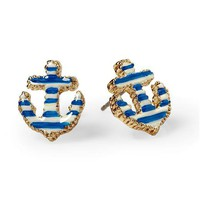 Betsey Johnson Anchor Stud Earring | Piperlime