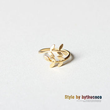 leaf ringgold adjustable by bythecoco on Etsy