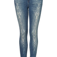 MOTO Native Burnout Skinny Jeans - New In This Week - New In - Topshop