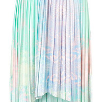 Tall Pleated Dip Hem Skirt - New In This Week - New In - Topshop