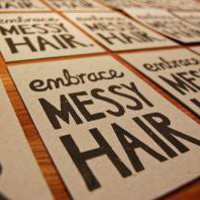 Embrace Messy Hair Lino Print by funnelcloud on Etsy