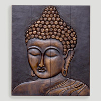 Wood Buddha Face Wall Hanging | World Market