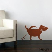 Vinyl Wall Sticker Decal  Dog Pissing  014 by NouWall on Etsy