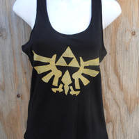 PREORDER Legend of Zelda Triforce Eagle black Racerback tank