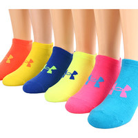 Under Armour UA Neon No Show 6 Pack Assorted - Zappos.com Free Shipping BOTH Ways