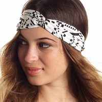Geometric Print Twisted Headwrap: Charlotte Russe