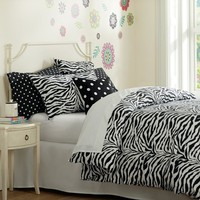 Funky Zebra Organic Duvet Cover + Pillowcases, Black