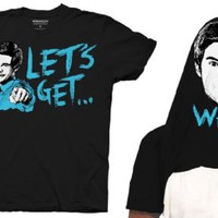 Workaholics Let's Get Weird Flip Adam DeMamp Face Adult Black T-shirt - Workaholics - | TV Store Online