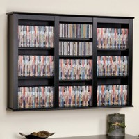 Prepac Black Large Capacity Wall Media Storage Rack:Amazon:Home & Kitchen