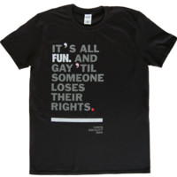 Unisex LGBTQ Equality T-shirt  : Revel & Riot LGBTQ merchandise and gay rights graphic t-shirts | Revel & Riot
