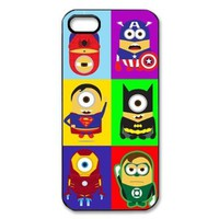 TP-DIY Unique Minion Style Hard Back Case Cover for Apple Iphone 5 with Hero of City Background TP-DIY-00893:Amazon:Cell Phones & Accessories