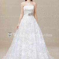 Unique A-Line Tulle Lace Wedding Dress