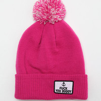 Abandon Ship F*ck You Buddy Beanie - Pink