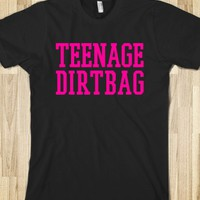 TEENAGE DIRTBAG DARK T-SHIRT (PINK ART)