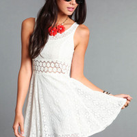 DAISY CROCHET DRESS