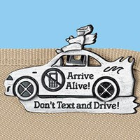 Don't Text & Drive Visor Clip @ Harriet Carter