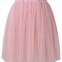 Pleated Tulle Skirt in Pink
