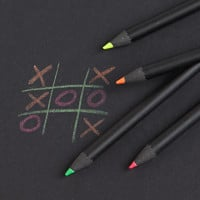 set of 5 neon pencils