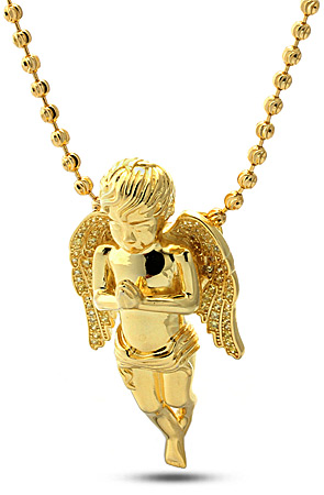 King Ice Gold Praying Guardian Angel From Karmaloop