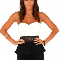 Missguided - Raine Sequin Waistband Peplum Dress