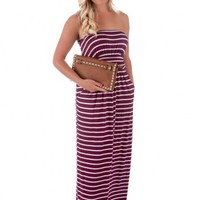Sideline Sweetie Maxi Dress-Maroon - New Arrivals
