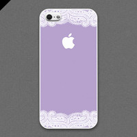iPhone 5 case  White lace and Lavender color cases by evoncase