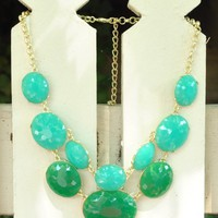 Oval You in Teal - Jewelry