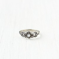 Free People Delicate Organic Stone Ring