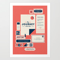 The Destination Art Print by Kavan & Co