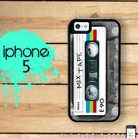 iPhone 5 Mighty Case -  2 Part Protective iPhone 5 Case - Retro 80s Mix Tape Cassette Tape Case