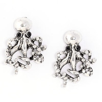 Antiqued Octopus Stud Earrings - PLASTICLAND
