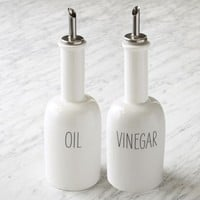 Labeled Kitchen Oil + Vinegar Dispensers