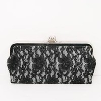 Lace Kisslock Clutch - Bare Beauty - SHOP BY OUTFIT A'GACI
