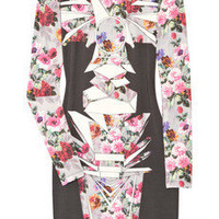 Jonathan Saunders|Printed stretch-modal dress|NET-A-PORTER.COM