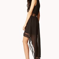 Lace-Trimmed High-Low Dress | FOREVER 21 - 2075753527