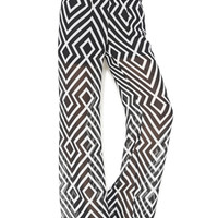 Chevron Stripe Palazzo Pant | Shop New Arrivals at Arden B
