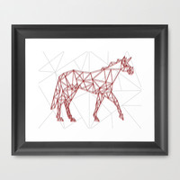 Wired Unicorn Framed Art Print by That's So Unicorny