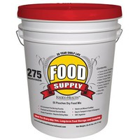 Emergency Survival Food Supply 275 Servings - 20 YEAR SHELF LIFE