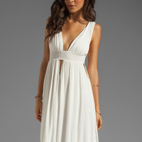 Indah Anjeli Empire Maxi Dress in White from REVOLVEclothing.com