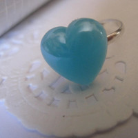 plastic heart ring