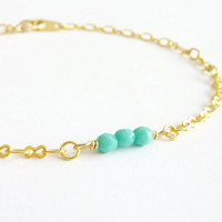Cool Mint. Layered Bracelet. Stackable Bracelet. Simple. Minimalistic Jewelry. Pastels.