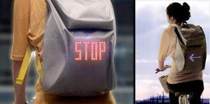 Cycling Backpack with Turn Signals | Incredible Things